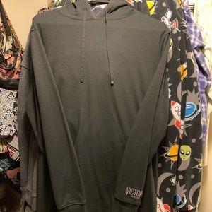VS Sport Black Hooded Sweatshirt. Size small